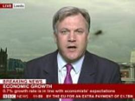 ed balls photobombed by spider during live bbc interview