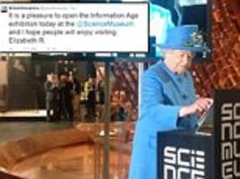 Queen Elizabeth uses Twitter to officially open new science exhibition